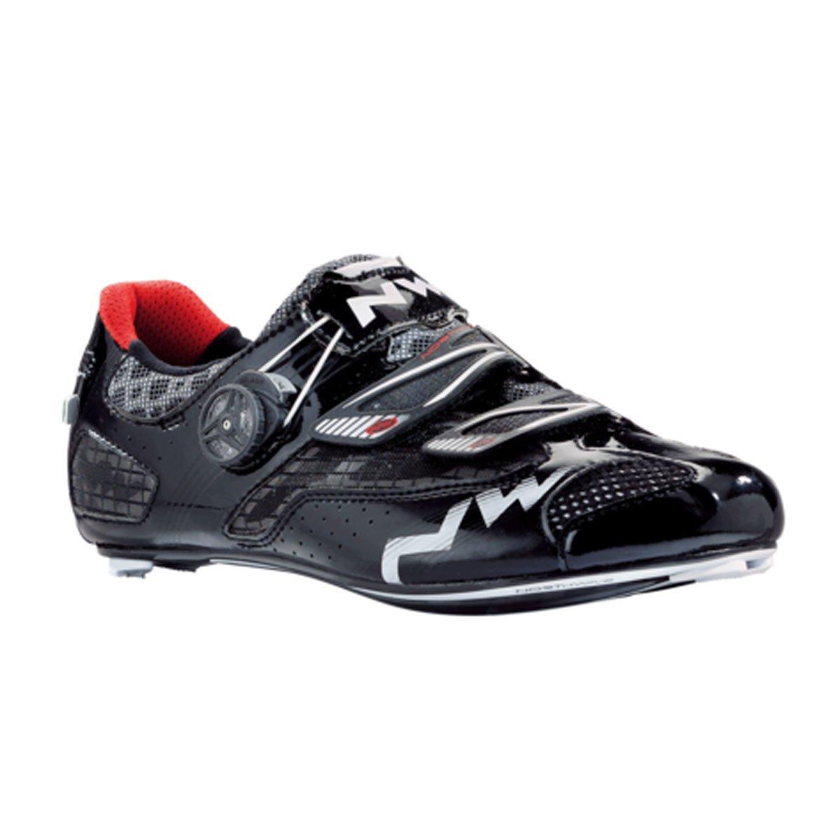 Northwave 2015 Men's Galaxy Road Cycling Shoes - 80141002-10 B00EGSM776 41 EU|Matte Black