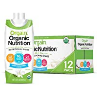 Orgain Organic Nutritional Shake, Sweet Vanilla Bean - Meal Replacement, 16g Protein...