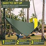 Rottay Waterproof Camping Tarp, Multifunctional
