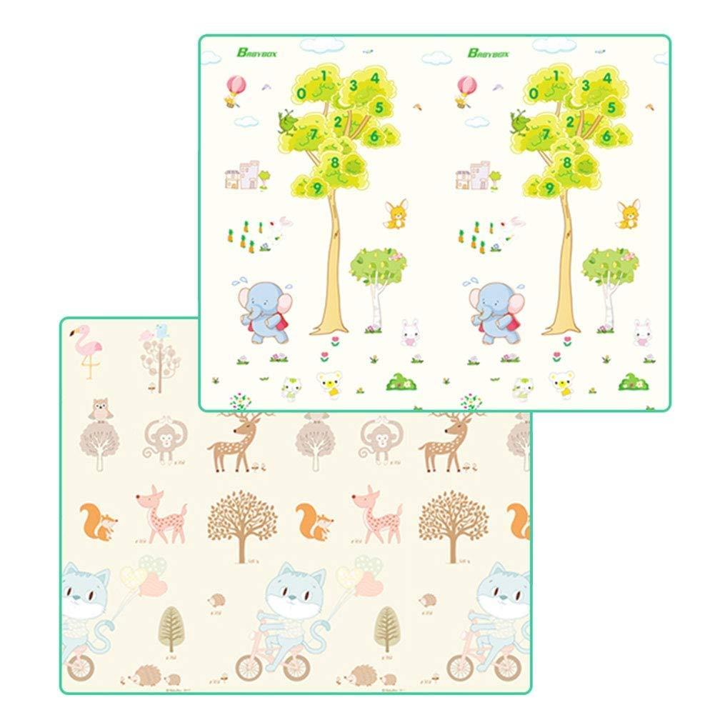 Faltbare Babyspielmatte - XPE-Schaum Große Weißhe Baby-Krabbeldecke Spielmatte Für Baby-Kinder, Wasserdichte, Reversible Yoga-Gymnastikmatte (Größe   200×90×1cm)  180×120×1cm
