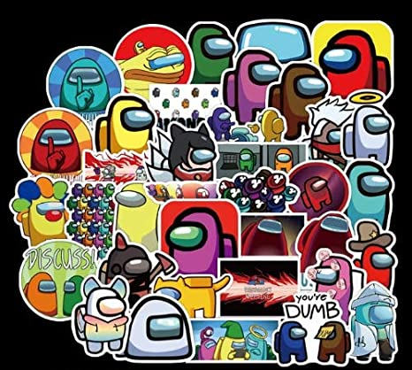 Amazon.com: Among Us Sticker 50pcs/Pack Among Us Fandom Crewmate Hot Game Stickers for Skateboard Fridge Guitar Laptop Motorcycle Travel Luggage Cartoon Water Bottle Stickers: Kitchen & Dining
