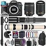 Holiday Saving Bundle for D7100 DSLR Camera + 650-1300mm Telephoto Lens + 55-200mm VR II Lens + AF-P 18-55mm + 500mm Telephoto Lens + 6PC Graduated Color Filter Set - International Version