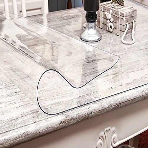 Minimalistischen Modernen Kaffeetischen Pad Transparent Gefrostet Rechteckige Isolator Pvc Wasserdicht Weißhen Kunststoff Tischdecke, Transparentes Glas 2 Mm, 90160 Cm 3 mm, klar 100100cm