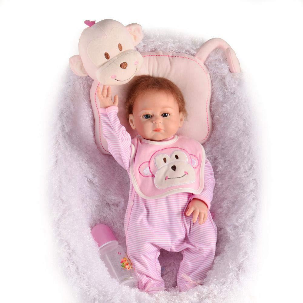 Hongge Reborn Baby Doll,Muñeca de Renacimiento Realista de Silicona Mejor 50cm