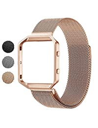 Fitbit Blaze Band + Frame, Soulen Milanese Replacement Strap for Fitbit Blaze Smart Watch