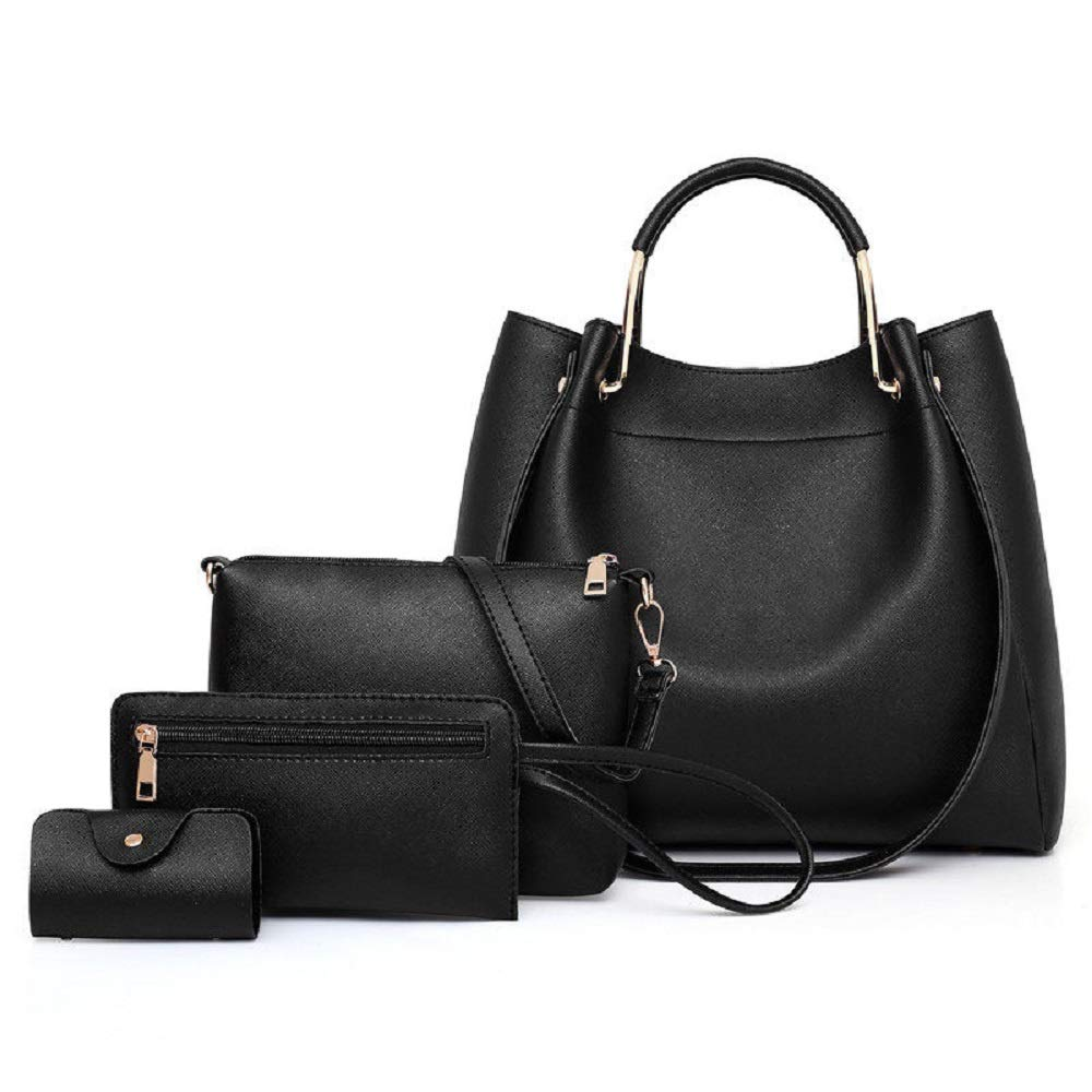 Black TP Womens Handbag Purse Collection  Satchel Tote Shoulder Bag Wallet Keychain