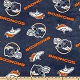 Fabric Traditions CK-149 NFL Fleece Denver Broncos Blue/Orange Yard