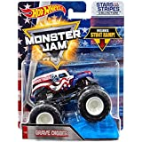 Hot Wheels Monster Jam Stars and Stripes Grave Digger 1:64 Scaled