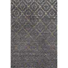 3028 Gold Moroccan Trellis 5'2x7'2 Area Rug Carpet Large New