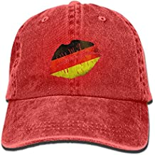 Z-YY Lip In Old Germany Flag Adults Adjustable Cowboy Cap Denim Hat For Outdoor