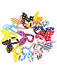HipGirl Boutique Girls Hair Bow Ties Ponytail Holders, No...