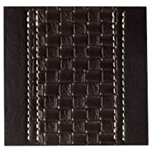 Inspire Faux Leather Tram Weave Brown Coaster - set of 4