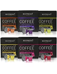 Bestpresso Coffee for Nespresso OriginalLine Machine 120 pods Certified Genuine Espresso Variety Pack, Pods Compatible with Nespresso OriginalLine