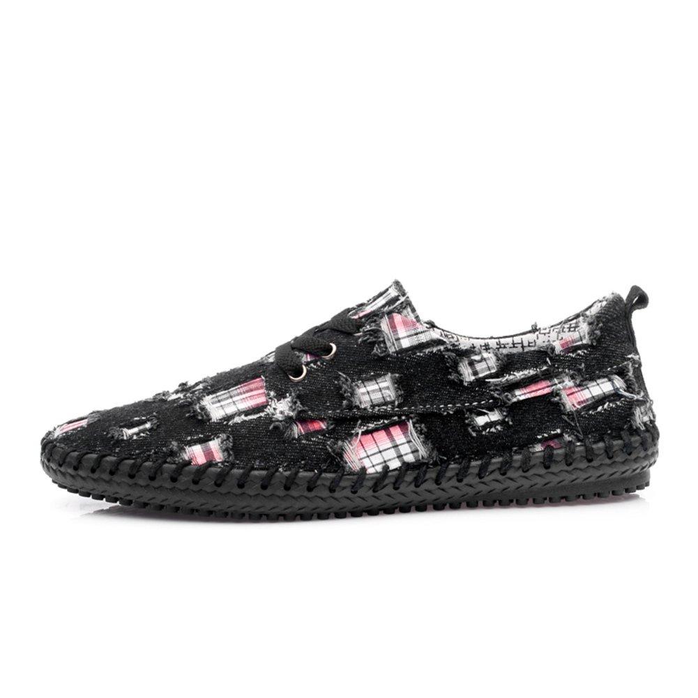 Männer Plattform Sommer-Verschleiß-Canvas-Schuhe in der Sommer-Verschleiß-Canvas-Schuhe Plattform Korean Fashion Denim Freizeitschuhe Schuhe für Herren 264a31