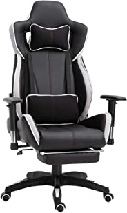 Vinsetto Gaming Chair with Footrest Ergonomic Racing Reclineing Chair Computer Chair with Headrest and Lumbar Support with Wh
