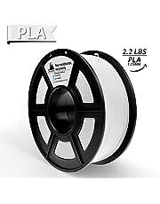 PLA Filament, 3D Hero PLA Filament 1.75mm,PLA 3D Printer Filament, 3D Printing Materials, Dimensional Accuracy +/- 0.02 mm, 2.2 LBS(1kg),1.75mm Filament,White