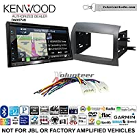 Volunteer Audio Kenwood DNX574S Double Din Radio Install Kit with GPS Navigation Apple CarPlay Android Auto Fits 2004-2010 Non Amplified Toyota Sienna
