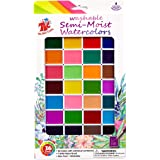TBC The Best Crafts Semi Moist Watercolor Paint Set,36 Assorted Colors Washable Watercolor Palette,Non-Toxic Watercolor for K