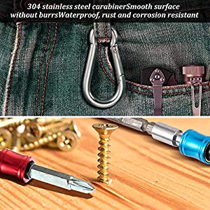 6 Pieces 1/4 Inch Hex Shank Keychain Extension Bar Screwdriver Bits Holder Socket Adapter Drill Bit Screw Adapter Fast Change Bit Holder for Most Electric, Hand-held Screwdrivers and Drill Bits