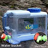 Aneil Drinking Water Storage Containers with Spigot and Spout, Portable Car Outdoor Camping Home Cold Water Storage Bucket With Tap