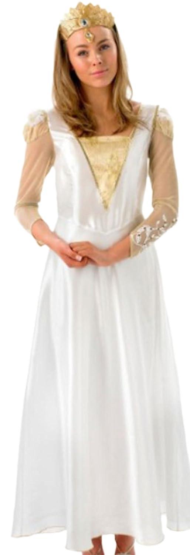 Fancy Ole - Damen Frauen Zauberin Königinnen Königinnen Königinnen Kostüm , M, Weiß 5ecafc
