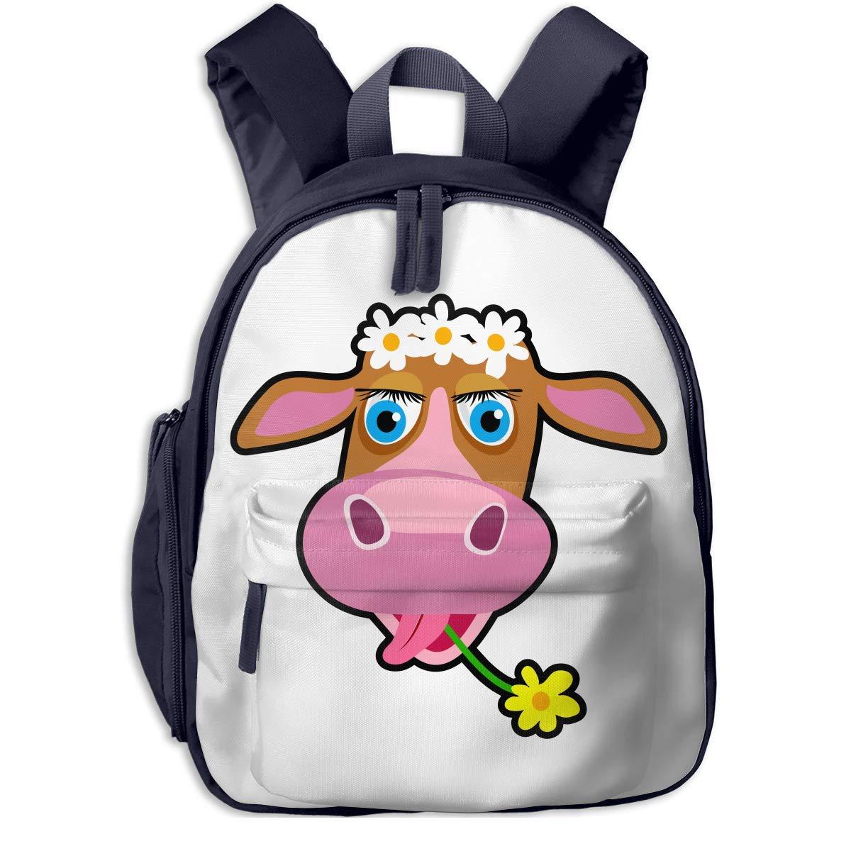 School Backpack for for for Girls Boys, Kids Cute Flower Cow Cartoon Backpacks Book Bag B07LGWMH5X Daypacks Preisrotuktion e18681