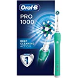 Oral-B Pro 1000 CrossAction Electric Toothbrush, Green