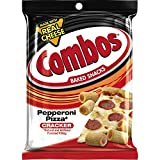COMBOS Pepperoni Pizza Cracker Baked Snacks 6.3-Ounce Bag (Pack of 12)