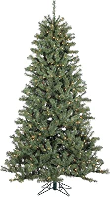 StarSun Depot 7.5 Foot Pre-Lit Christmas Tree Realistic Spruce with 500 Clear White Lights