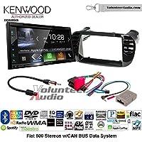 Volunteer Audio Kenwood Excelon DDX6904S Double Din Radio Install Kit with Satellite Bluetooth & HD Radio Fits 2012-2015 Fiat 500 (Black)
