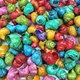 PEPPERLONELY Dyed Tiny Land Snail Sea Shells, 4 oz Apprx. 180+ PC Shells, 3/4 inch ~ 1 inch