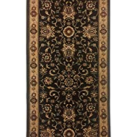 Madison House Rlegance Hallway Runner and Stair Runner. 26 Wide - Color: Brown