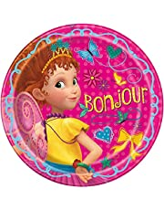 Disney Fancy Nancy Round Dinner Plates - 8 Pcs