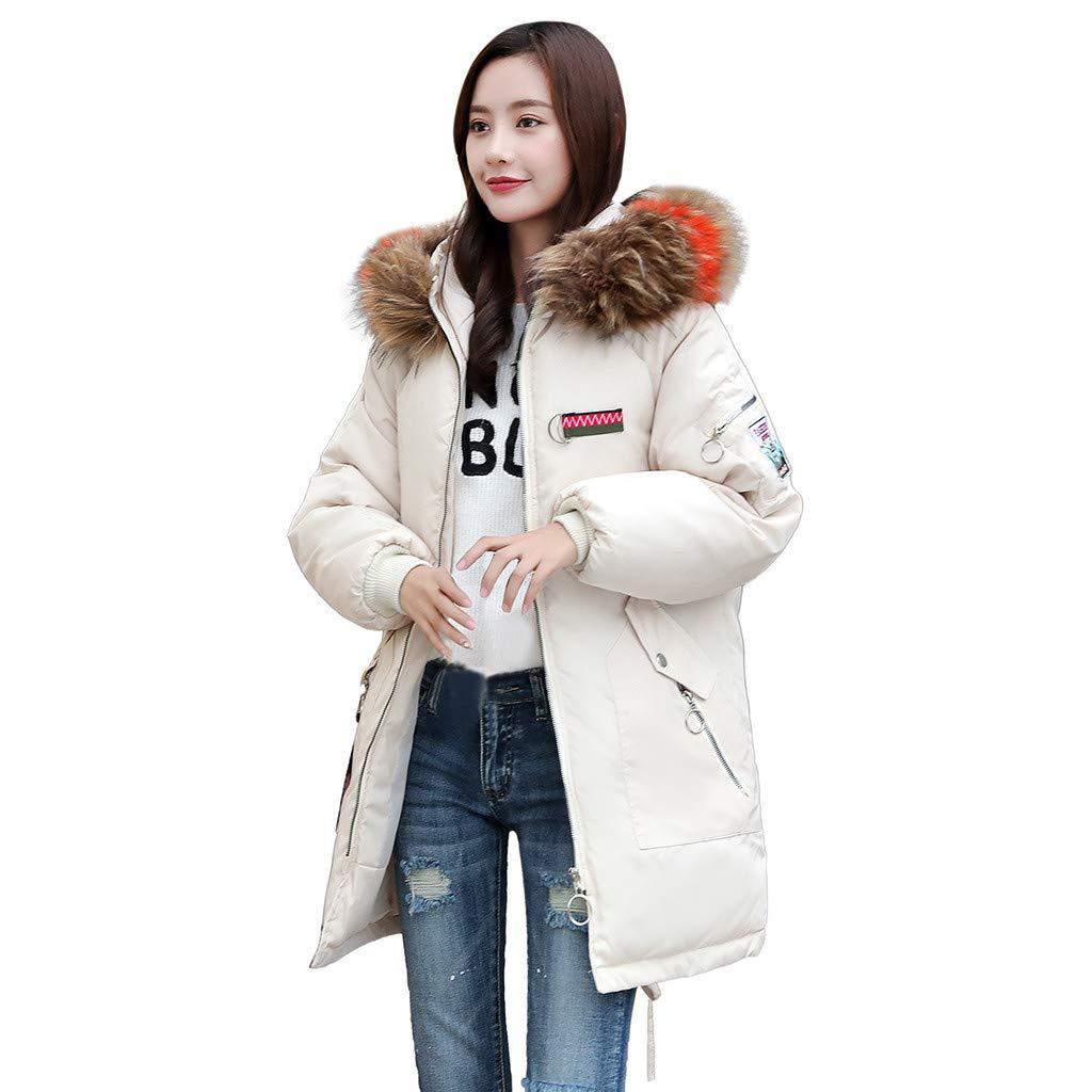 d99a9b3f5d White Medium Faux Fur Jacket Women Winter Coat Hood Thick Warm Jacket Long  Parka Outerwear. Most recent trends