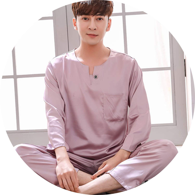 color18 JIESENGTOO 2019 New Luxurious Silk Satin Couple Pajamas Set Long Sleeve Trousers Sleepwear Women Mens Silk