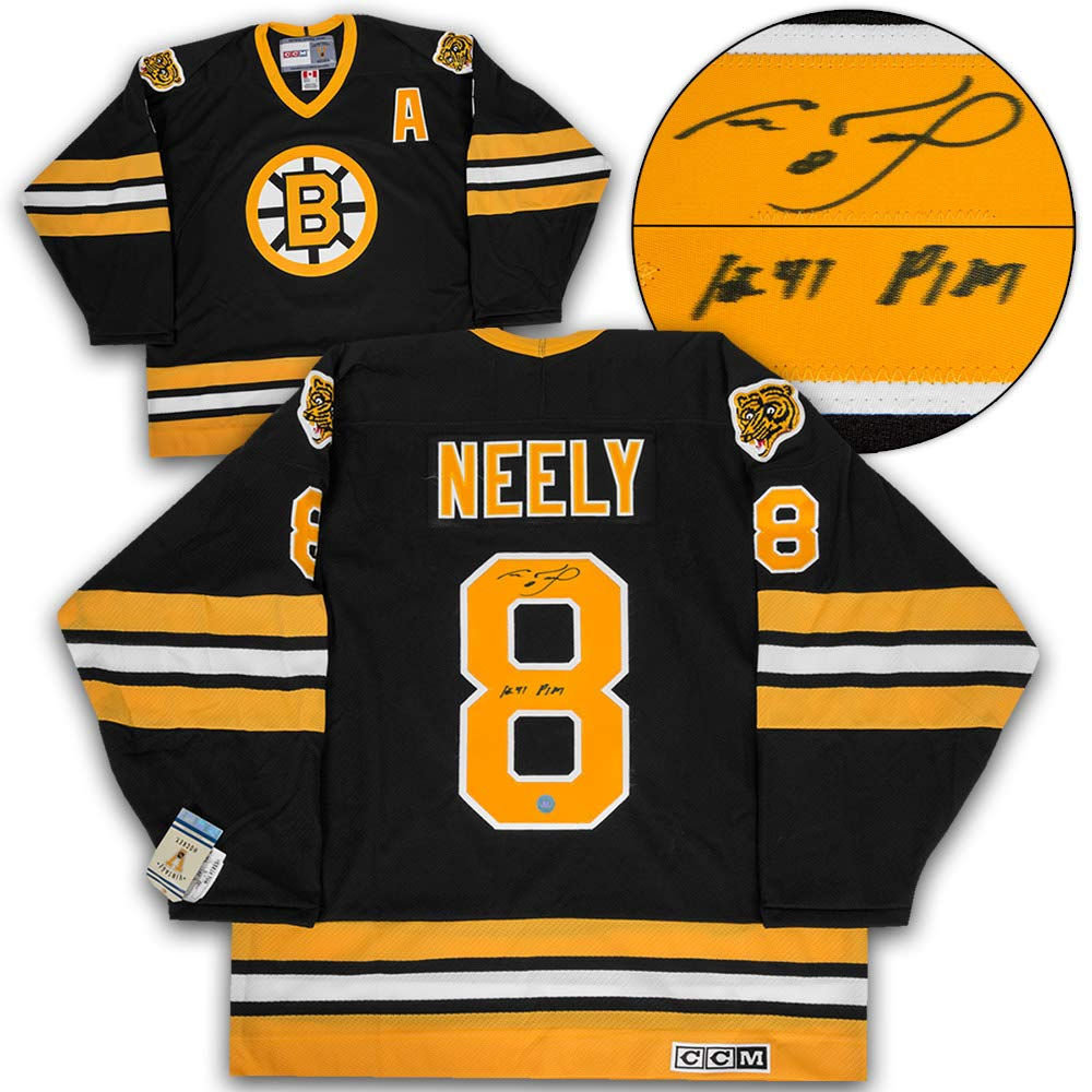 db42636fd ... denmark cam neely boston bruins autographed retro ccm hockey jersey  with 1241 pim note at amazons