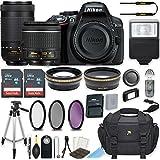 Nikon D5300 24.2 MP DSLR Camera (Black) w/AF-P DX NIKKOR 18-55mm f/3.5-5.6G VR Lens & AF-P DX NIKKOR 70-300mm f/4.5-6.3G ED Lens Bundle includes 64GB Memory + Filters + Deluxe Bag + Accessories