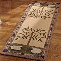 Park Designs Willow and Sheep Hooked Rug Runner, 24 x 72