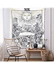 KHOYIME Tarot Tapestry Sun and Moon Tapestry Celestial Palmistry Wall Hanging Mystic Hand Energy Home Decor for Dorm Bedroom
