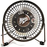 MaxxAir HVDF8 High Velocity 8-Inch Metal 12V Desk Fan with 3 Polypropylene Blades