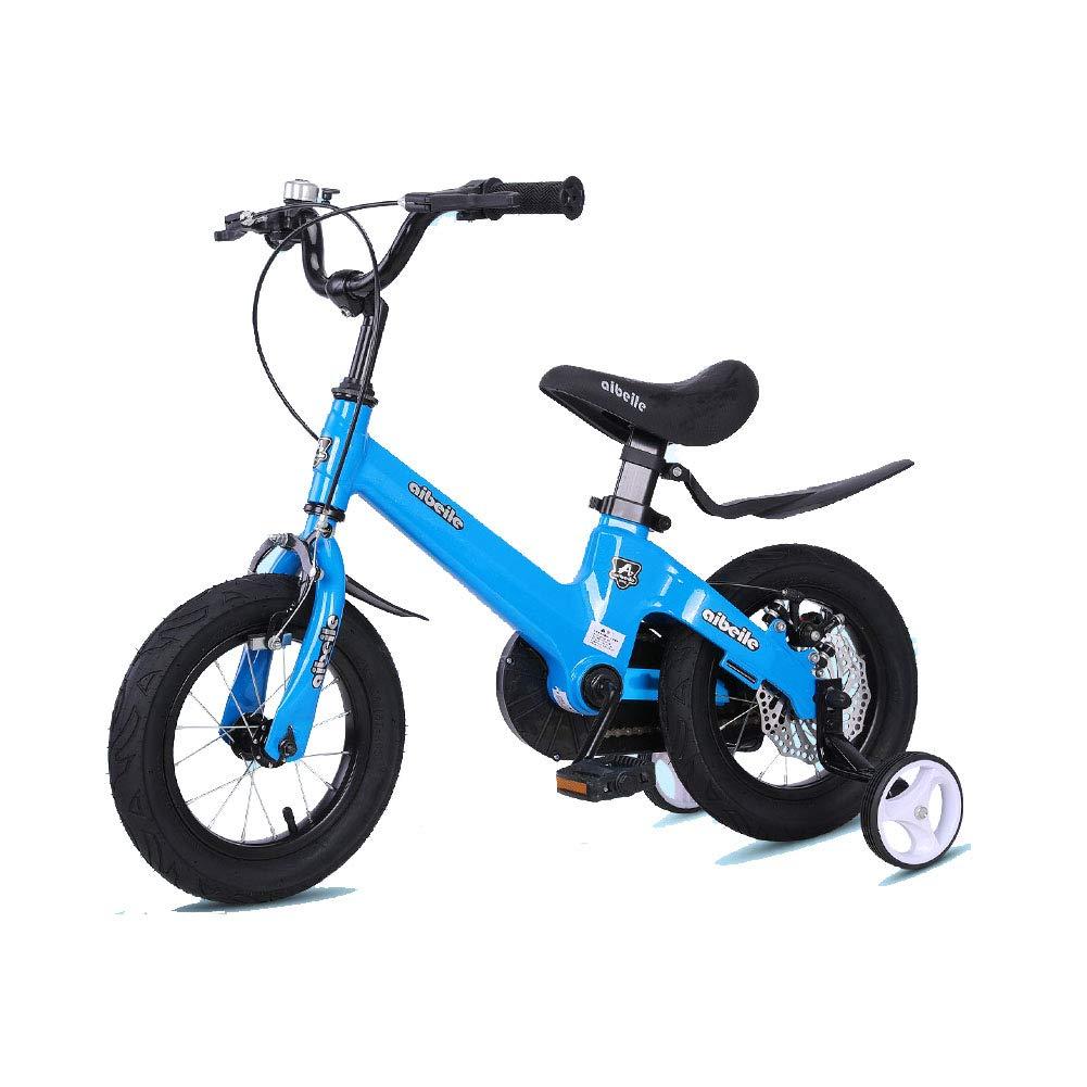 promocionales de incentivo azul 18in Niños Niños Niños Bicicleta Altura Ajustable Bicicleta de montaña Doble Freno Niño Niña La Seguridad Absorción de Golpes 2-10 años de Edad  suministramos lo mejor
