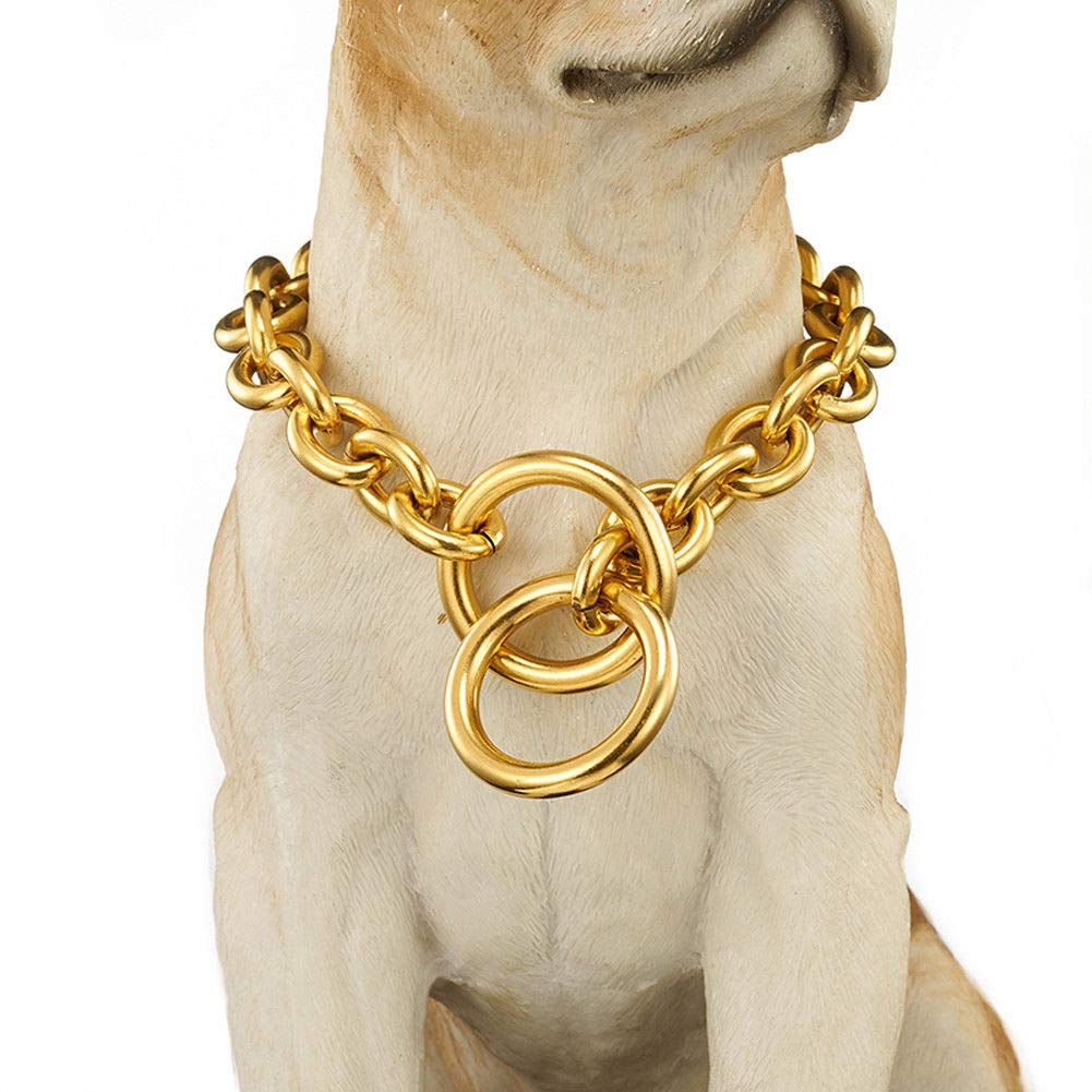 15mm,20\ FidgetGear Dog Pet Training Choker Guardian Gear Chain gold Stainless Steel O Necklace Hot 15mm 20  Recommend doy's necklace16