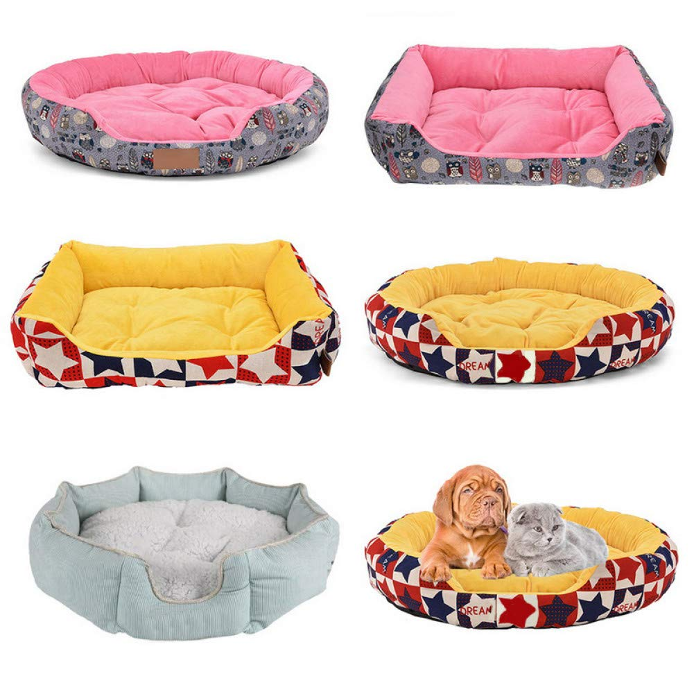 Aigou Dog Bed Dog Bed Mat Kennel Soft Dog Puppy Warm Bed House Plush Cozy Nest For Small Medium Dog House Pad Warm Winter Pet Supplies
