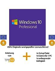 MS Windows 10 Pro Multilingual 32 bit & 64 bit Vollversion - Original Lizenzschlüssel per Post und E-Mail + Anleitung von TPFNet® - Versand max. 60Min