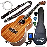 Ukulele Tenor Size Bundle From Lohanu (LU-T) 2 Strap Pins Installed FREE Uke Strap Case Tuner 2 Picks A Pick Holder Aquila Strings Installed Free Video Lessons BEST UKULELE BUNDLE DEAL Purchase Today!
