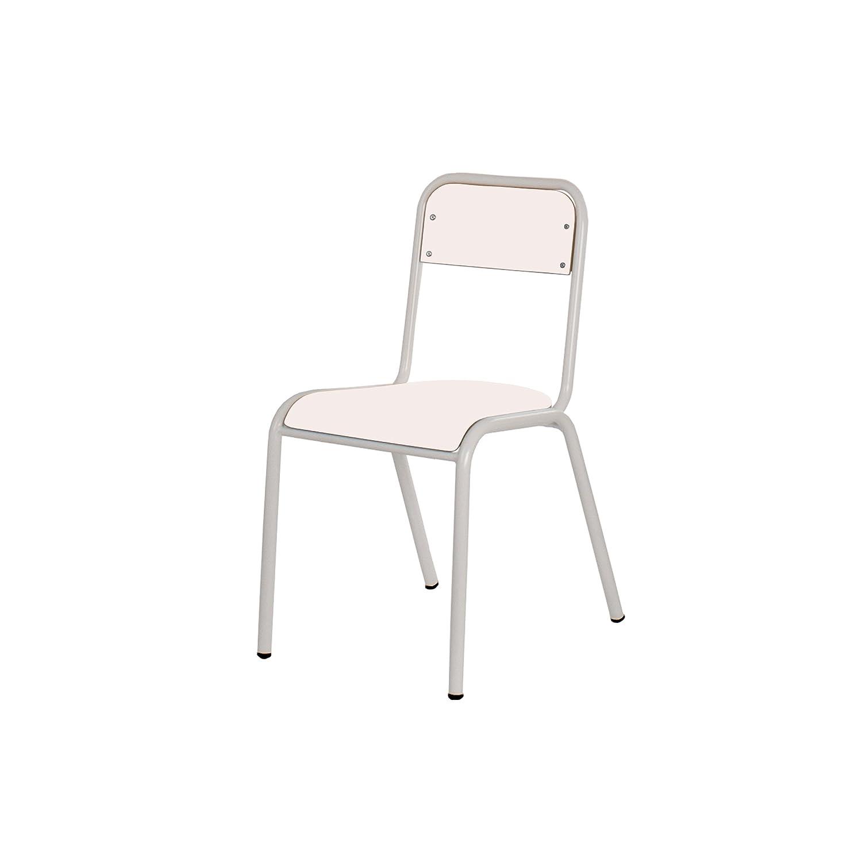 Mobeduc Kinder Expert Stuhl, Holz, Weiß, Größe 4, 77 x 40 x 38 cm