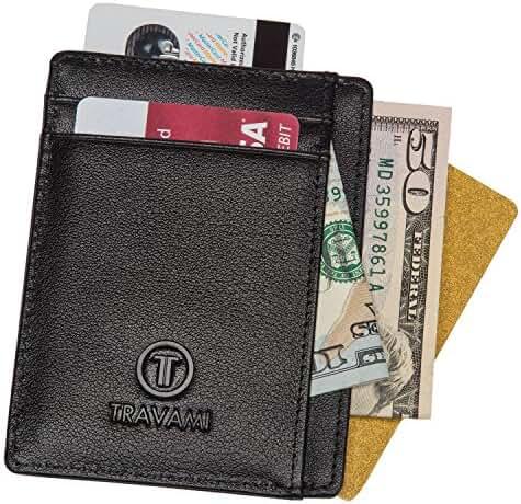 Travami - Front Pocket Wallets for Men - RFID Blocking Slim Leather Wallets