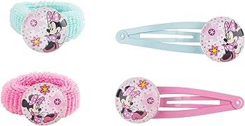 SIX Kids Disney Minnie Mouse Haarschmuck Set, Haarspangen und Zopfgummie (304-436)