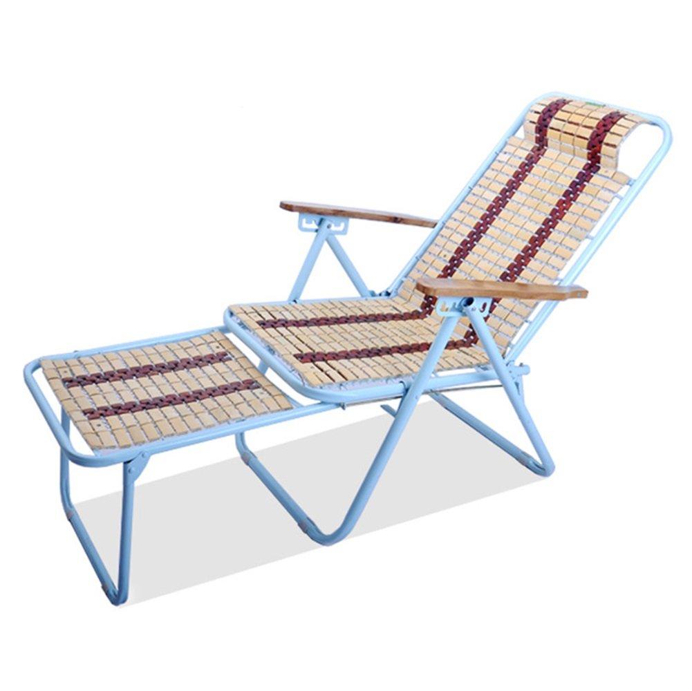 Mode Folding Recliner Home Multifunktions-Sommer-Freizeit-Stuhl Beach Chair mit kühlen Stuhl Sitz