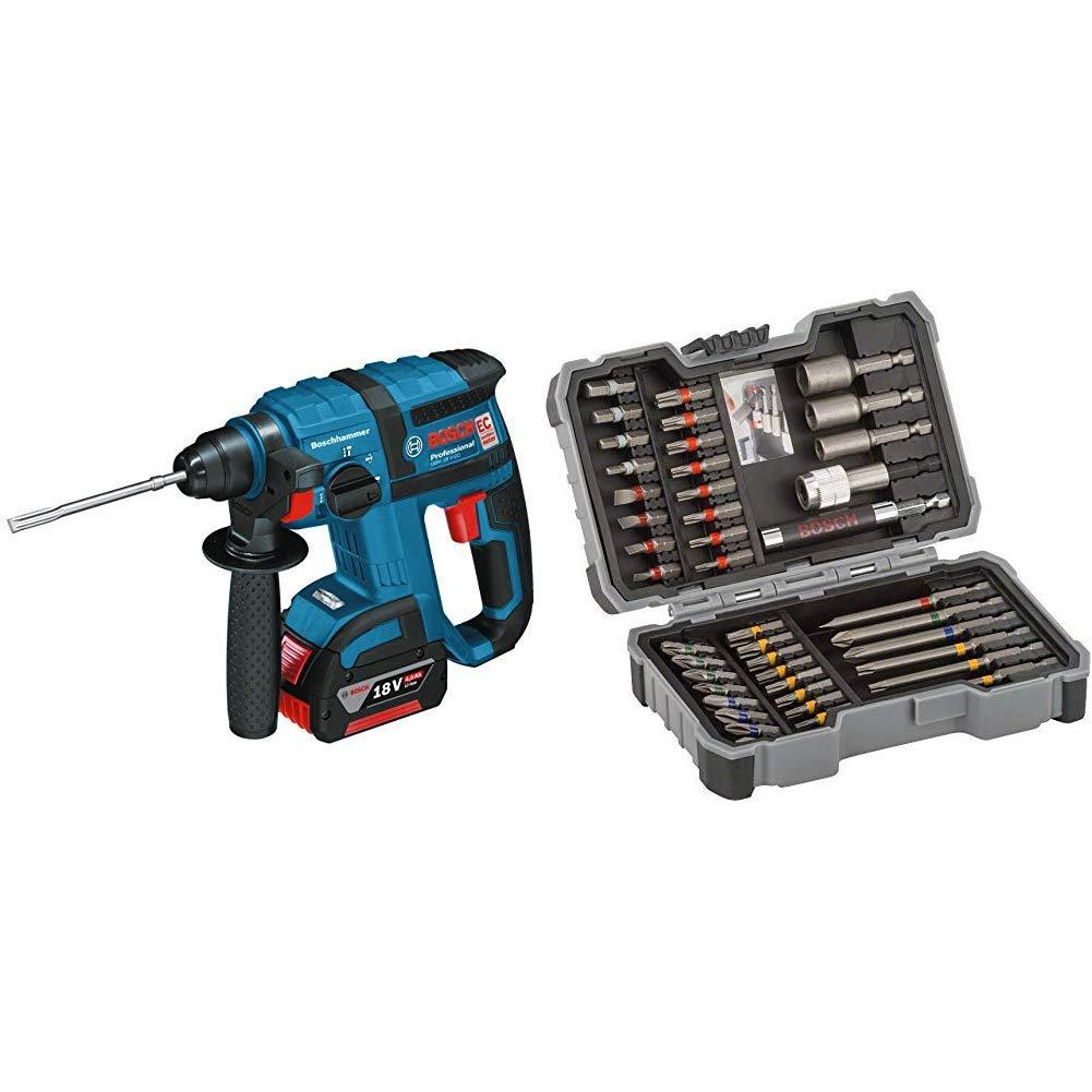 Bosch Professional GBH 18 V-EC - Martillo perforador a batería + Bosch 2 607